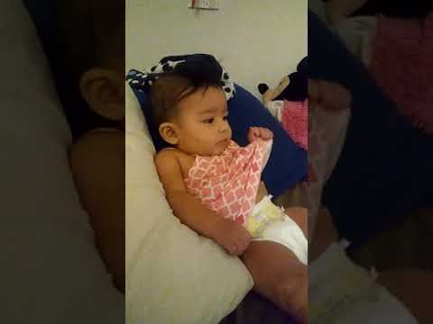 My baby Vivica trying to sit up on her own Lol ❤❤😍😍