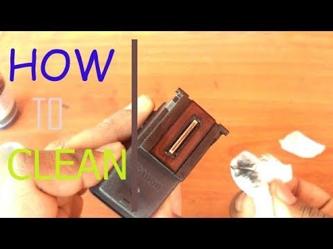 how to clean and fill canon printer e410 cartridge