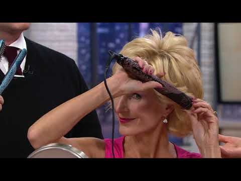 Caj Beauty Flip and Bend Styling Iron w/ Matrix Glide & Hair Clips on QVC