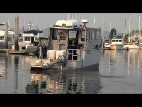 Alaska 27' Custom Aluminum Boat in Harbor