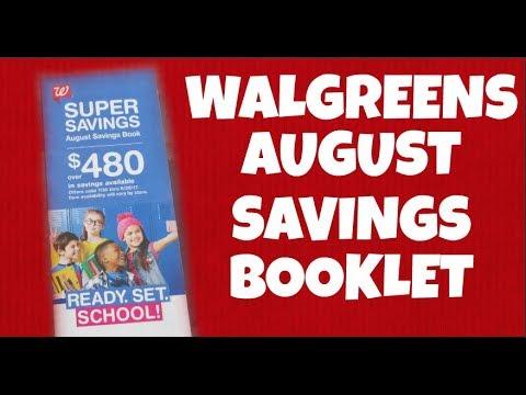 Walgreens August Savings Booklet