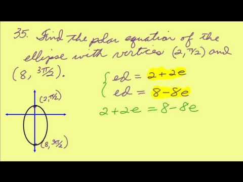 Finding the equation of a polar ellipse given the vertices