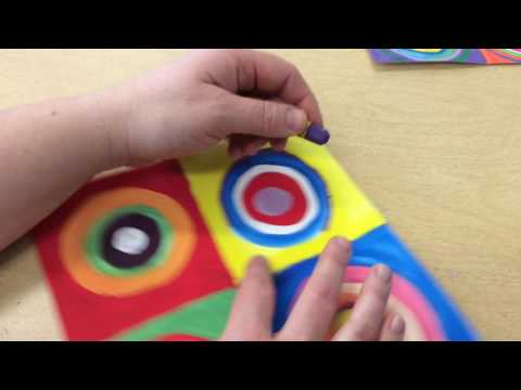 Adding Circles with Oil Pastels