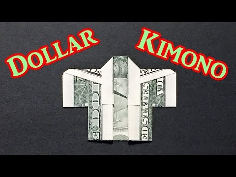 Easy Money Origami Kimono - How to Make a Japanese Dress Using One Dollar Bill