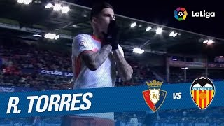 Golazo de Roberto Torres (2-2) en el Osasuna vs Valencia CF
