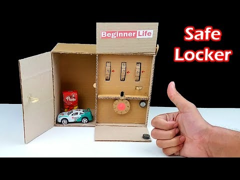 How to Make Safe Locker 2 Level from Cardboard