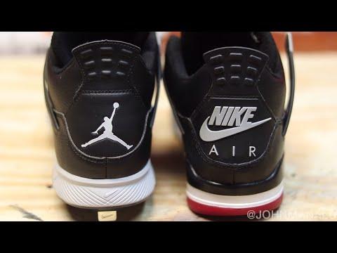 Jordan Cleat Bred Leather 4 Custom!