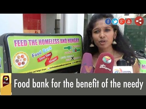 Food bank for the benefit of the needy