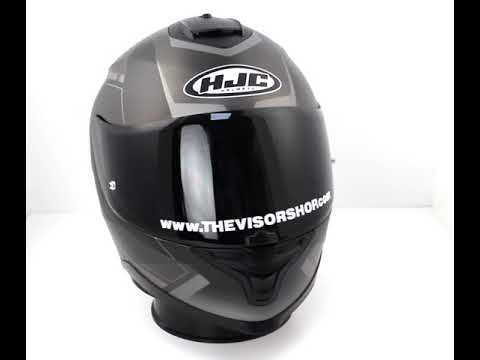 HJC IS 17 Loktar Black MC2 Motorcycle Helmet