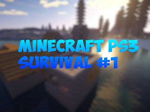 Minecraft PS3 survival #1 AIMBOT HAX