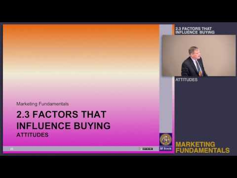 Topic 2.3 Factors that influence buying - Attitudes