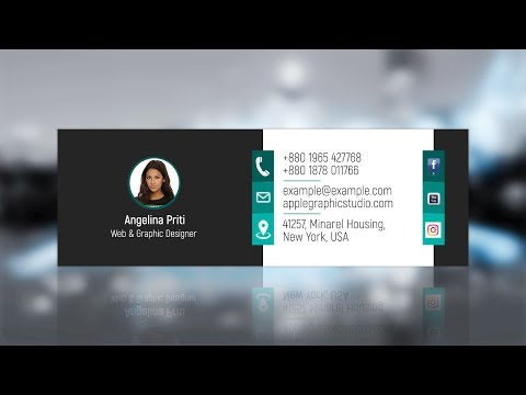 How To Create Professional Email Signature | Photoshop Tutorial