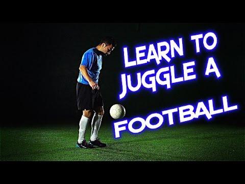 How to Juggle a Football - PRSOCCERART Tutorials #6
