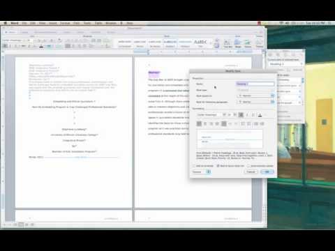 Creating TOCs in Word for Mac