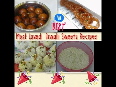 4 Easy Quick Diwali Sweets Recipe - Sweets with Homemade Mawa Recipe -Dewali Indian Sweets Recipes