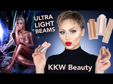 KKW Beauty UltraLight Beam Highlighter + Glosses Review | Alexandra Anele