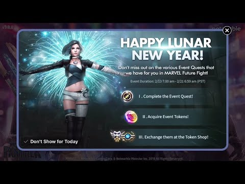 Marvel Future Fight Part 70 - Lunar New Year Event Begins! Green Goblin and Moon Girl to 6 Stars!