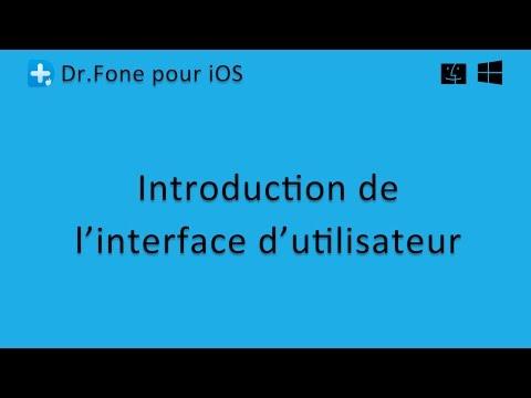 Dr.Fone pour iOS: L'interface d'utilisateur