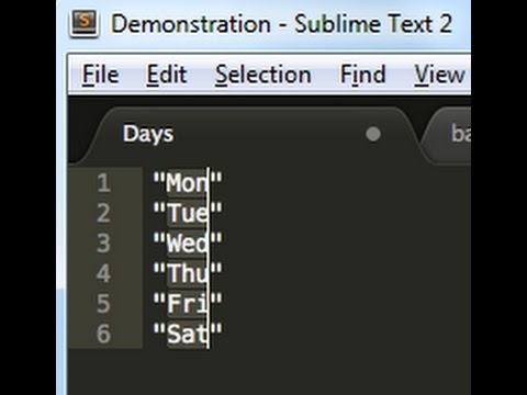 Sublime text demonstration