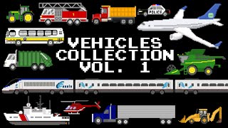 Vehicles Collection Volume 1 - Cars, Trucks, Planes, Boats, & More! - The Kids' Picture Show