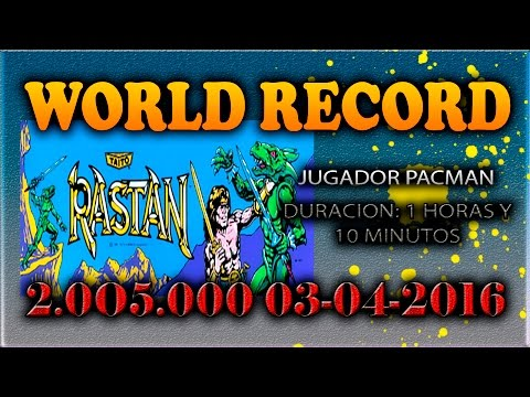 WORLD RECORD RASTAN ARCADE - (2.005.000 puntos) -