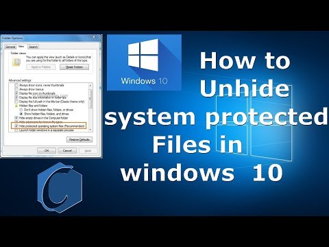 How to show protected operating system files windows 10