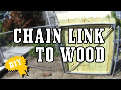 Fence Gate / Chain Link to Wood