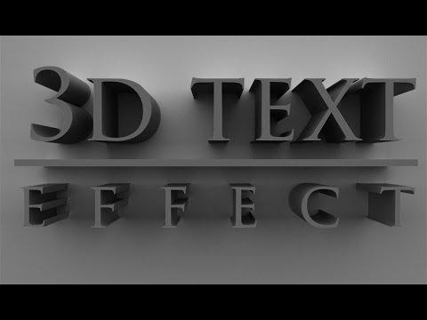 3d Text Effect Photoshop CS6 CC & Hindi Tutorial