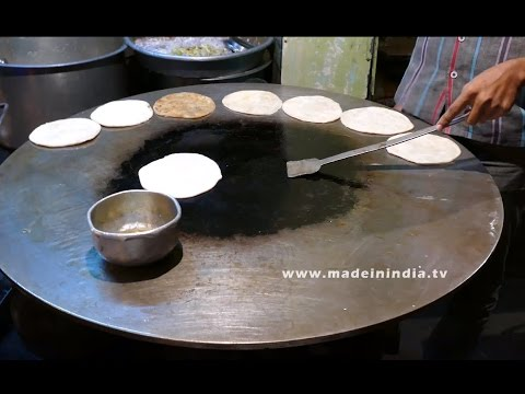 Layered Soft Indian Bread Making | How to make Roti | Chapati | Poli street food