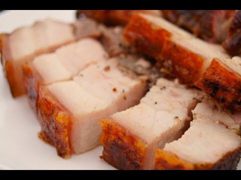 How to make Crispy Roasted Pork Belly -- can also be used for Liempo Siu Yuk Lechon and cracklin