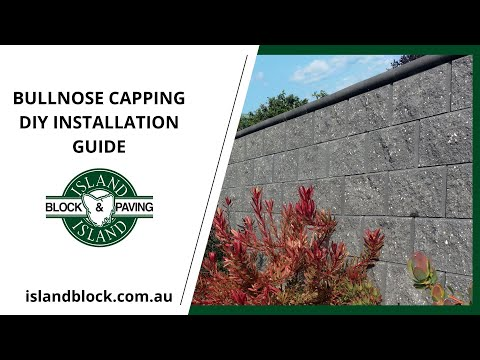 DIY How To Install Bullnose Retaining Wall Capping