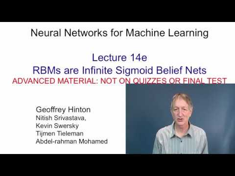 Lecture 14.5 — RBMs are infinite sigmoid belief nets — [ Deep Learning | Geoffrey Hinton | UofT ]