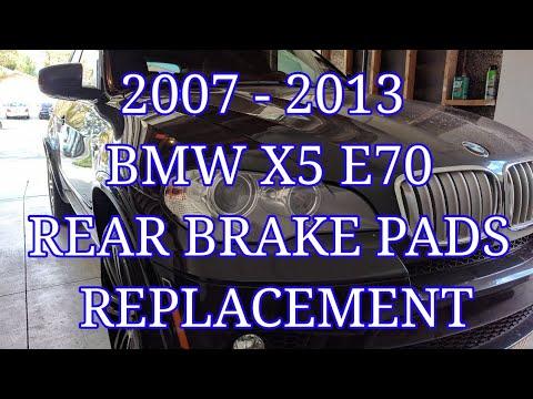 2007 - 2013 BMW X5 E70 rear brake pads replacement BMW X6 E71