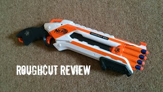 "Nerf N-strike Elite ""whiteout"" Roughcut 2x4 Unboxing & Firing Test"