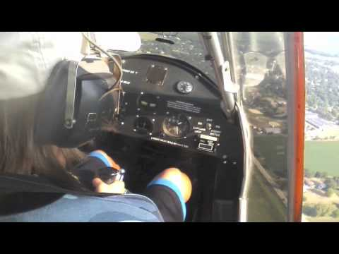 13 year old girl learning how to fly a challenger II