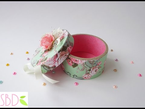 Riciclo creativo: scatola rotonda - Creative recycle: round box