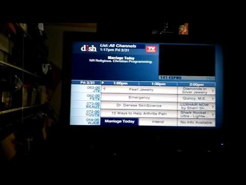 Dish Network Satellite 110 ° West - Big Dish - TV Guide from Costa Rica