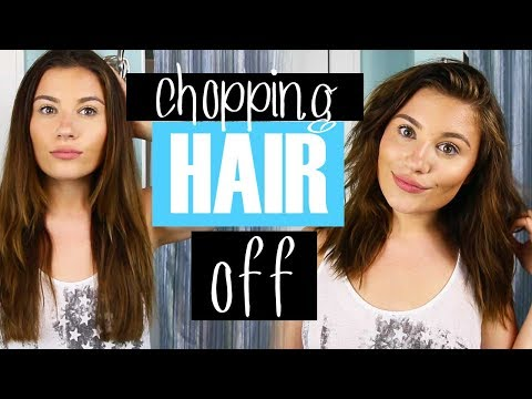 I CUT MY HAIR!! LONG BOB HOW TO