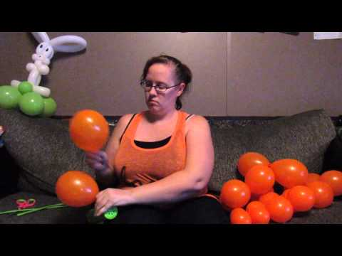 How to Make a Carrot with Balloons