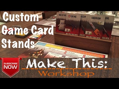 Make This: Game Card Stands (Custom)