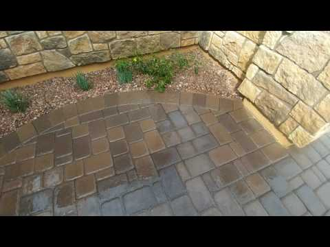 Removing paint stains from concrete pavers