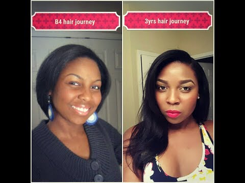 Grow long relaxed hair and maintain it (Relaxed Hair Journey)