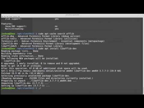 Compiling Software in Linux: The Sleuthkit