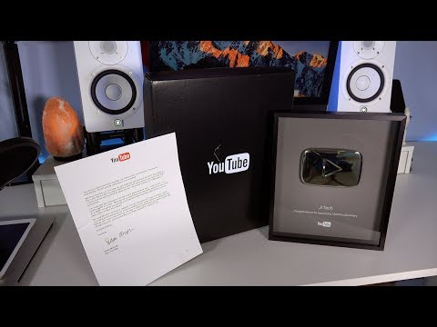 100,000 Youtube Silver Play Button Plaque Unboxing - 2017 Update Unboxing