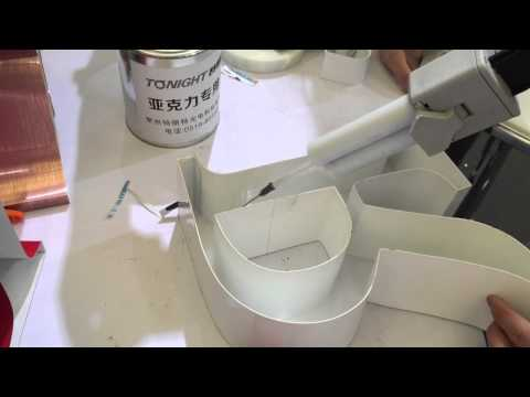 The special glue for acrylic and aluminum sticking