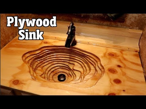 How to Build a Cool looking Rustic Plywood sink & countertop for $200 in 2 days pt1of2