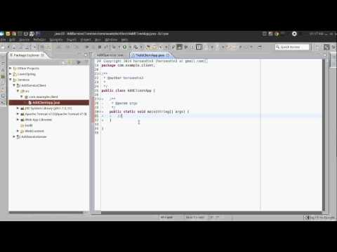 Create web service with Eclipse + Axis2 + Tomcat