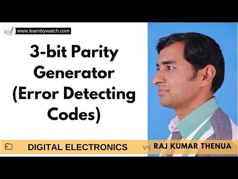 3 bit Parity Generator - Error Detecting Codes | Hindi | Digital Electronics by Raj Kumar Thenua