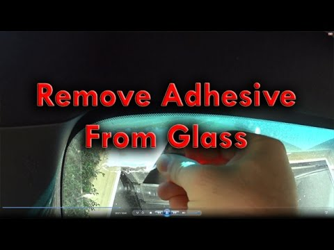 Remove Adhesive From Glass
