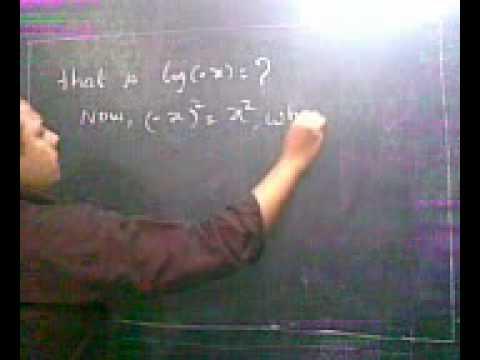 log of a negative number